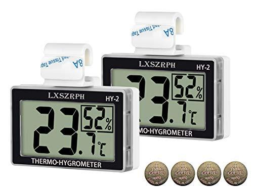 温度計 爬虫類 湿度計 室温計 デジタル 両生類 温湿度計 HD液晶 ベルクロ フック付き 爬虫類タンク テラリウム 飼育室 ビバリウム 部屋用 LXSZRPH
