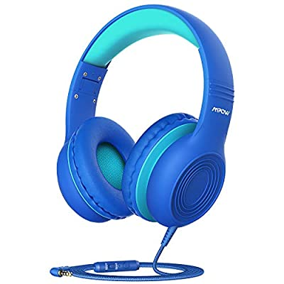 Kids Headphones, Mpow CH6S Children Headphone Over Ear, Wired Headset Volume Limited and Sharing Function Child Earphones Foldable Headphones, 3.5mm Jack with Mic for School/Travel/Phone/Kindle/PC/MP3 from Mpow