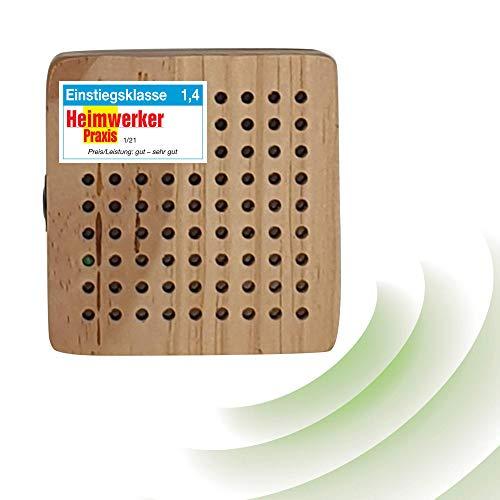 ISOTRONIC Woody Mäuseabwehr/Rattenabwehr mit Ultraschall im Holzgehäuse, Schädlingsvertreiber elektronisch für Haus, Keller, Garten, Mäuse Ratten vertreiben ohne Chemie/Mausefalle (1)