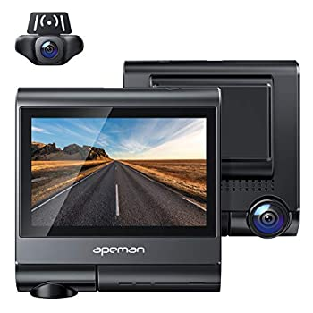 APEMAN 4K Touch Screen Dash Cam 1920x1080P Front and Rear Dash Camera for Cars Built-in GPS & Wi-Fi Dual 170° Sony Sensor Car Camera with Parking Mode Motion Detection Support 128GB Max