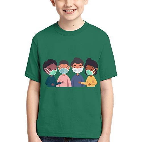 Coro-navi-rus Boys T Shirts Kids Short Sleeve 3D Print for Teen Girls T Shirt Youth Novelty Summer XL