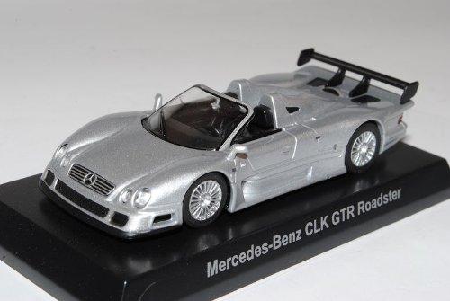 Kyosho Mercedes-Benz AMG CLK GTR Roadster Silber 2002 1/64 Sonderangebot Modell Auto mit individiuellem Wunschkennzeichen
