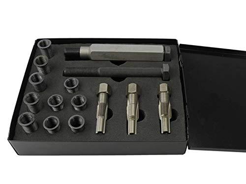 Sägenspezi Zündkerzen-Gewinde Profi Reparatur-Set M10x1,0; Gewindeschneider; Gewindebuchse für Motorsägen und andere Kleingeräte