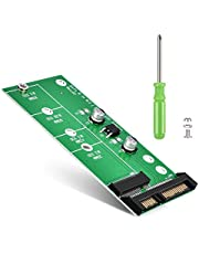 ELUTENG M.2 NGFF TO SATA 変換 アダプタ 2230/2242/2260/2280対応 M.2 NGFF SSD から SATA3.0 変換カード すべてのPCIE SSDに非対応 SATA3 6Gbps M.2 ハードドライブ用 32GB 64GB 128GB 256GB 512GB まで対応