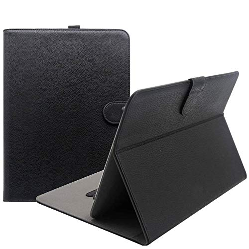 "ProCase Universal Folio Case for 9 - 10 inch Tablet, Leather Stand Protective Case Cover for 9"" 10.1"" Touchscreen Tablet with Multi-Angle Stand (Black)"