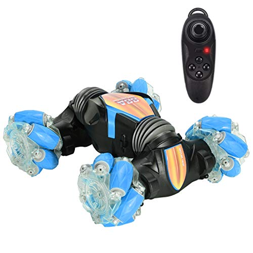 WEISHENGDA Mini Stunt Car Mobile Gesture Sensing Remote Control Telecar (Blue, Mecanum Wheel + 1-Handed Controler)
