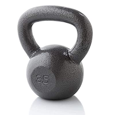 Weider 35 Lb. Cast Iron Kettlebell, Gray by Icon Health & Fitness