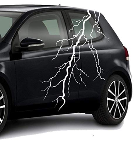 Auto Afkleber Sticker Folienaufkleber ***Blitz - lightning No.4*** - (Größen und Farbauswahl)