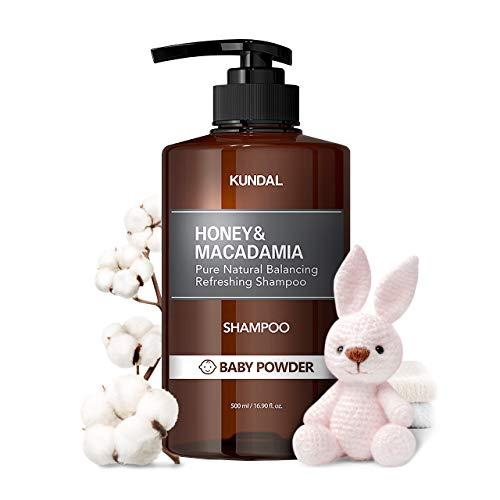 KUNDAL HONEY&MACADAMIA Pure Natural Balancing Refreshing(Baby Powder)Natural Shampoo 500ml