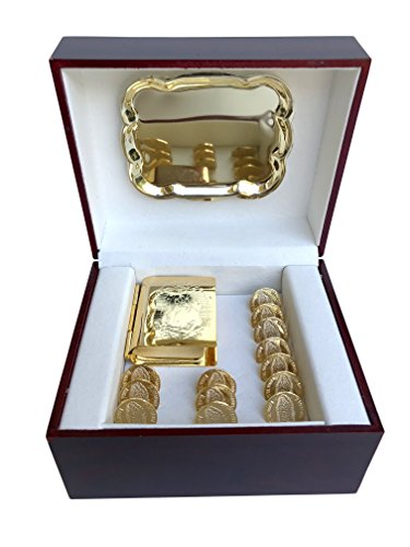 Angelitos de Mexico Our Lady of Guadalupe Novelty Gold-Plated Coins...
