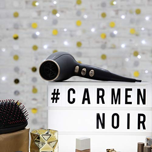 Carmen C80022 - Asciugacapelli, 2 velocità, 3 impostazioni di calore, 2200 W, colore: Nero