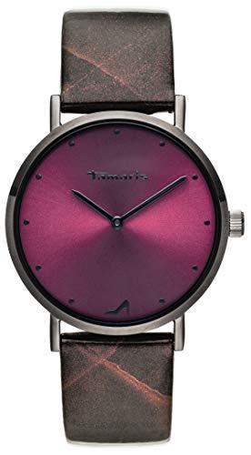 Tamaris Damen Analog Japanisches Quarzwerk Uhr mit Leder Armband TW074