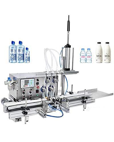 4 boquillas sumergibles Máquina de llenado de bomba magnética de escritorio automático CNC máquina de llenado de líquidos, adecuado para bebidas de jugo, agua mineral