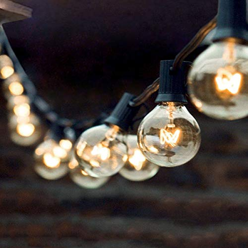 Armondii Party Lichterkette Außen, Retro Wasserdicht Warmweiß Deko Lampe (15m / 50 Glühbirnen)