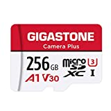 Gigastone Tarjeta Micro SD 256 GB, Camera Plus, Aplicación de ejecución A1 para teléfono Inteligente, Compatible con Nintendo Switch, 100MB/s, Grabación de Video 4K, Micro SDXC UHS-I A1 U3 Clase 10