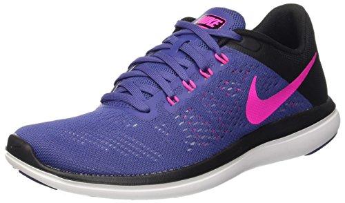 Nike Wmns Flex 2016 Rn, Women's Training, Multicolored (Dk Purple Dust/Pink Blast-Black), 3.5 UK (36.5 EU)