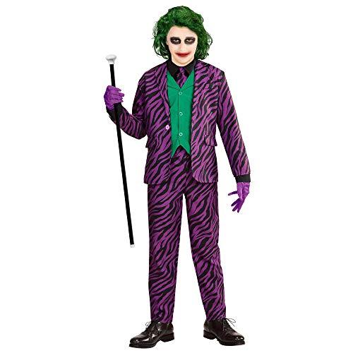 Widmann 19318 - Kinderkostüm Evil Clown, Jacke mit Weste, Hose, Krawatte, Horrorclown, Fasching, Mottoparty, Karneval, Halloween