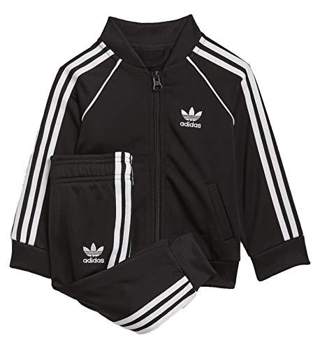 adidas Sst Tracksuit Tuta, Unisex bimbi, Black/White, 1218