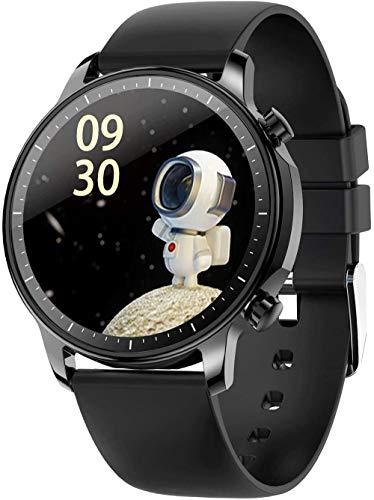 Smart Bracelet Sports Watch 1.28-Inch IPS Screen BT5.0 Fitness Tracker IP67 Waterproof Sleep/Heart Rate/Blood Pressure Monitor Pedometer Multiple Sports Mode Notification/Call/Sedentary-Black