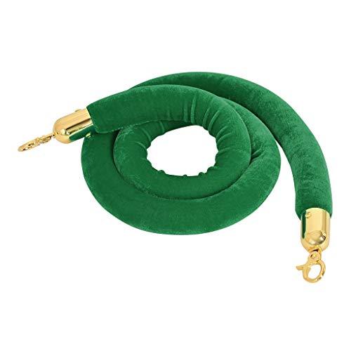 Gürtelpfosten Warteschlangenbarrieren Sicherheitspfosten Beiträge Seil 5 - Grün 59.0 inch
