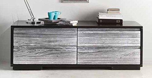 Legno&Design Porte TV Meuble Salon en Bois Massif 4 tiroirs