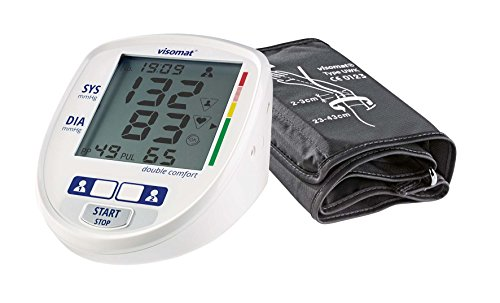 visomat double comfort - Blutdruckmessgerät Oberarm, präzise 2-fach Messung wie beim Arzt dank Mikrofonmanschette (23-43cm) höchste Messgenauigkeit