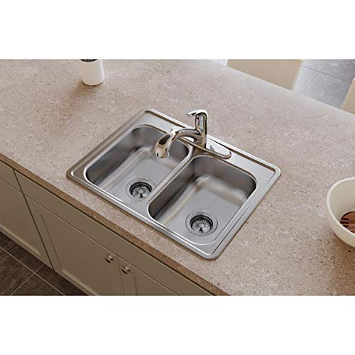 Dayton D225194 Equal Double Bowl Drop-in Stainless Steel Sink