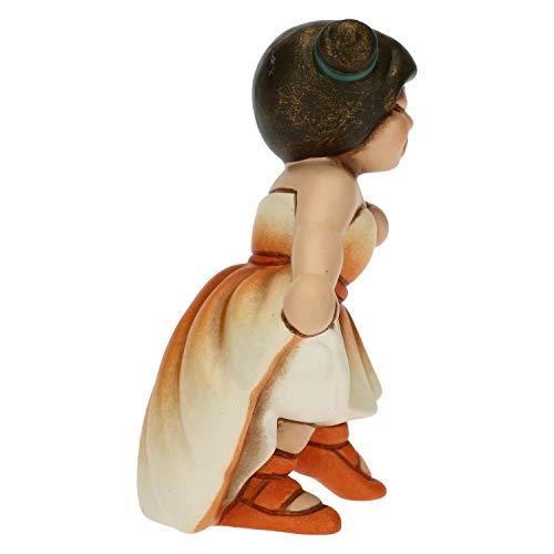 THUN - Soprammobile Bimba Ballerina con tutù Arancione - Bomboniere e Accessori Cameretta - Linea Cerimonia - Formato Piccolo - Ceramica - 5,1 x 3,8 x 7 h cm
