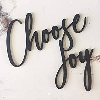 Choose Joy MDF Plaque Cutout for Home, Room, Wall Decor, Art & Crafts, Gift for Friends,Backside Double Tape (Easy to USE)...