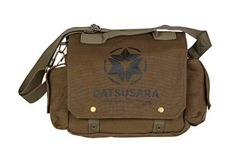 Datsusara Messenger Bag, Hemp Gear for Victory, 11.5 Inch Sustainable Hemp Satchel Shoulder Computer Laptop Bag, Burnt Orange Canvas