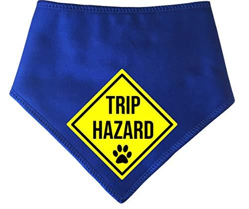 Spoilt Rotten Huisdieren, S4 Reis Gevaar! Grote blauwe hond Bandana. Voor honden die graag onder je voeten komen. Geschikt voor Husky, GSD, Newfies & Chow Chow Sized Dogs