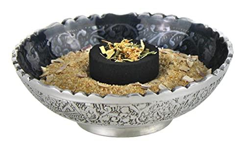 Bitto Hochwertiges Räucherset 5-teilig, Komplettset mit Räucherschale, Feuersand, Kohle, Zange und Räucherwerk