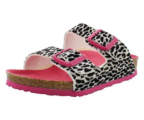 Birkenstock Kids Arizona Sandal Leo Pink Textile Size 34 N EU / 3-3.5 N US Big Kid