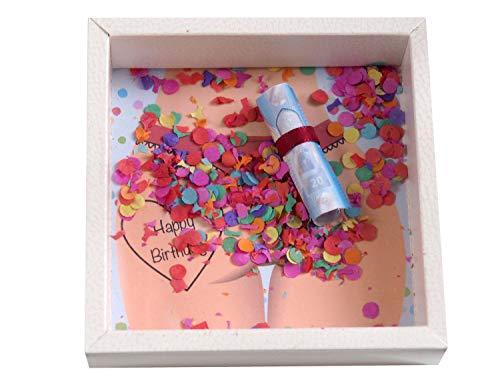 ZauberDeko Geldgeschenk Verpackung für Männer Geburtstag Mann Happy Birthday Konfetti Geschenk Party - 5