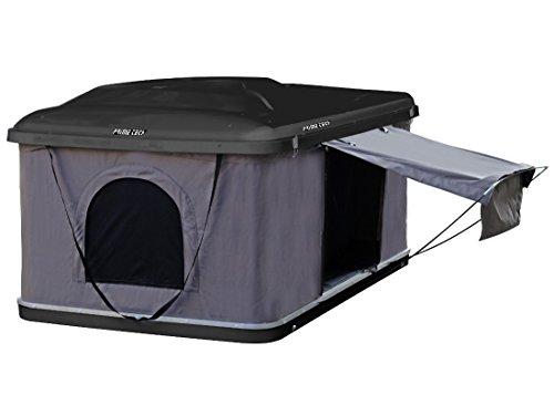 Prime Tech Hartschalen-Autodachzelt Cottage 145cm ABS schwarz/grau Öffnung automatisch