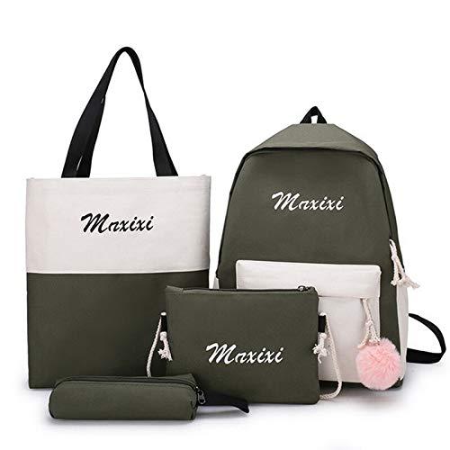 N / A Women School Backpacks Oxford Cloth Waterproof Schoolbag For Teenage Girls Student Book Bag Lady Travel Casual Bagpack as show