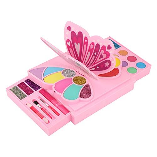 luminiu Maletín de maquillaje lavable, diseño de princesa, estuche compacto para juegos de rol, juguete seguro no tóxico, regalo para niños y niñas a partir de 3 años
