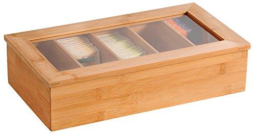 Kesper 5890013Caja de té, bambú, marrón, 36x 20x 9cm