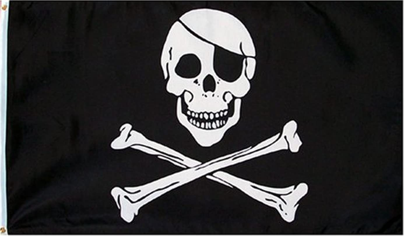 Pirate (Skull and Crossbones) Flag - 3 foot by 5 foot Polyester