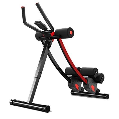 Höhenverstellbarer Bauchmuskeltrainer Bauch Körper Fitnessgerät Taille Quetscher Kern Toner Bein Oberschenkel Gesäß Körperformung mit LCD (Color : Black, Size : 42 * 90 * 88cm)