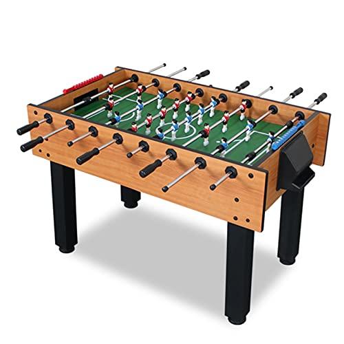 WERTYU Futbolín Mesa de futbolín para Adultos estándar Grande de 8 Polos Mesa de fútbol para Interiores(Color:C)