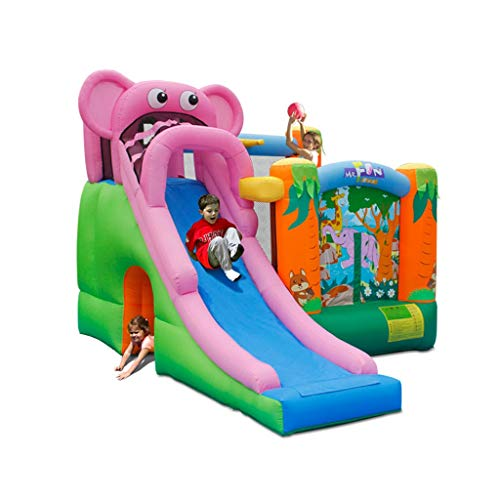 Best Review Of Inflatable Bouncers Inflatable Castle Children's Trampoline Cartoon Slide Bouncing Th...