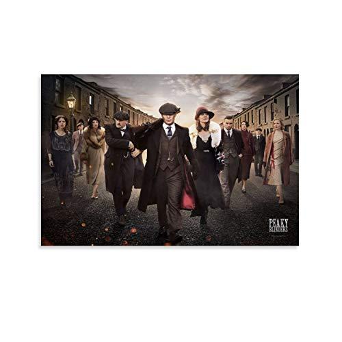 CHAOZHE Póster de dramas de la serie británica de televisión dramática de Peaky Blinders Key Art Póster decorativo de lienzo para pared de sala de estar y dormitorio, 30 x 45 cm