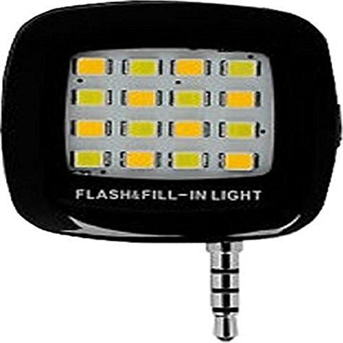 Insasta 16ledselfie Selfie Flash Light White :: 3.5mm pin Jack 16 LED Flash Light Selfie Stick