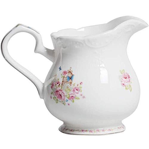 RXM keramische theepot, roze, vintage, wafelpatroon, wit, voor koffiekopje, met deksel, voor keuken Een