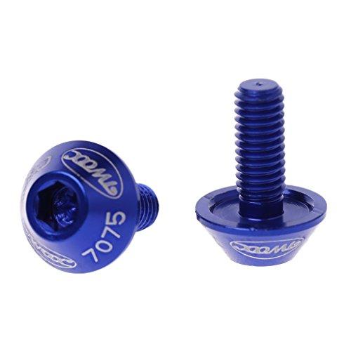 ESden Lot de 2 vis pour Porte-Bouteille M5 x 10 mm Taille Unique Bleu