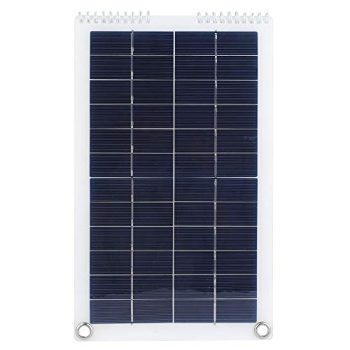 Panel solar, 30W Cargador solar plegable 5V, 1.8A Cargador de teléfono de panel solar de polisilicio portátil para computadoras portátiles Baterías de automóvil Coche RVs Barcos
