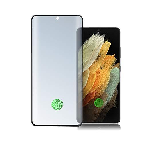 4smarts Second Glass Curved 3D UltraSonix Displayschutz für Samsung Galaxy S21 Ultra 5G Panzerglas [Ultraschall-tauglicher Temperglas 9H] Dünn Kristallklare Schutzfolie Samsung S21 Ultra - Schwarz