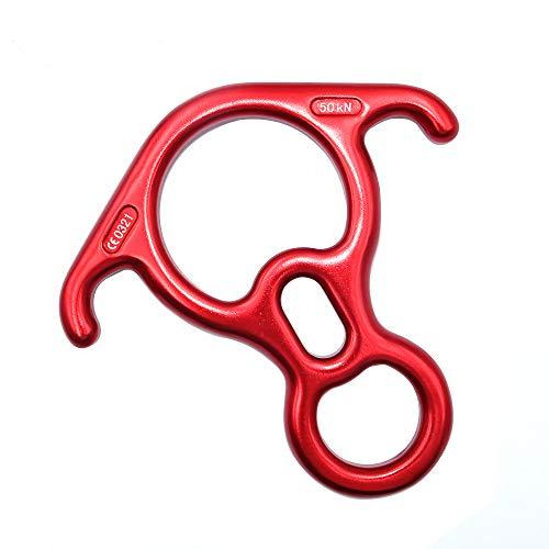 Namvo 50KN aleación de aluminio figura 8 palabra cuerda descendente rappel anillo de roca descendiente equipo de escalada pesado equipo de rescate de escalada