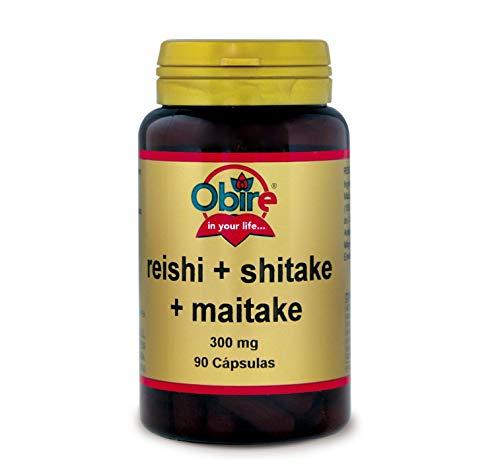 Reishi + shitake + maitake 300 mg. 90 capsulas